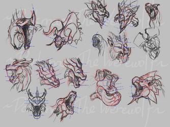 Dragon head perspective (With Monster Hunter) by DarkmaneTheWerewolf