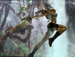 pacific coasts Lara Croft fight