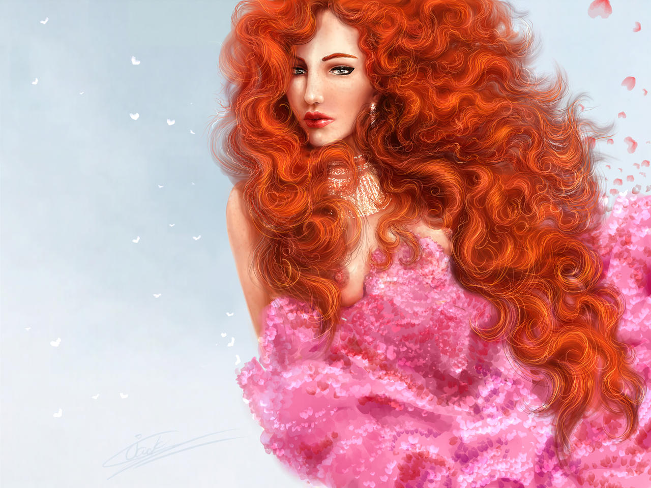 Red Haired Girl By Longrand On Deviantart