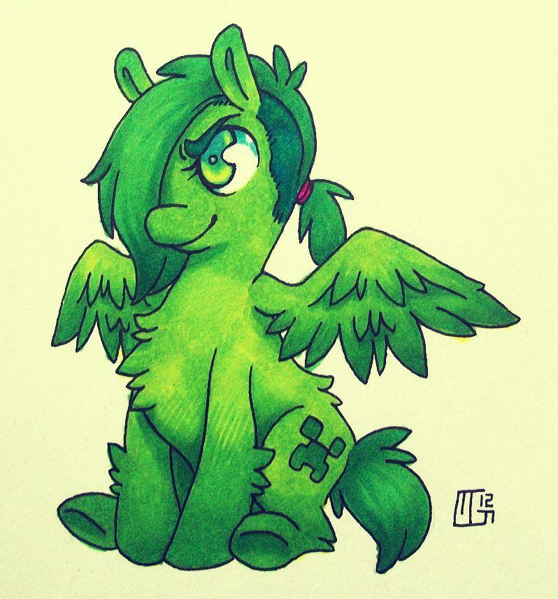 Creeper Pony by Kaweki