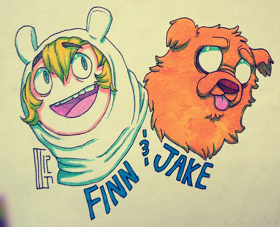 Finn and Jake by MGMaguire