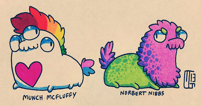 Munch and Norbert by MGMaguire