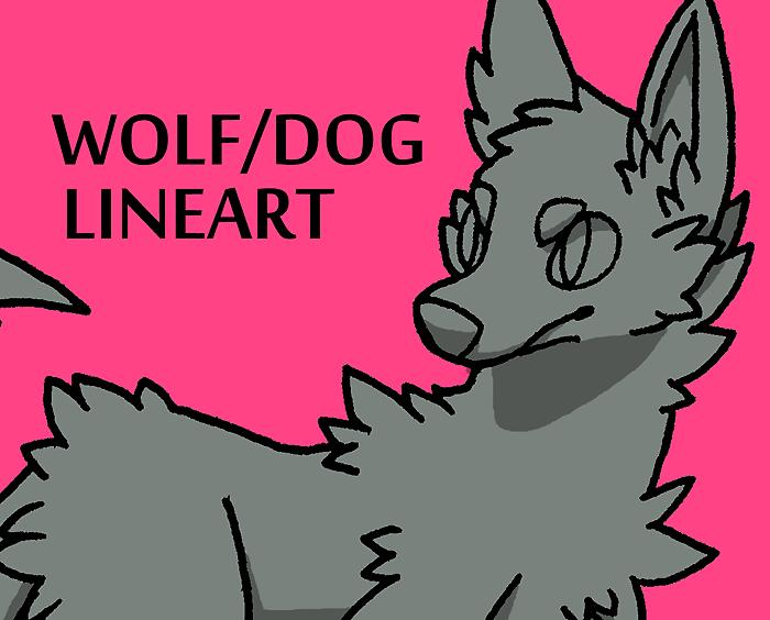 20 Point Wolf/Dog Lineart by Kaweki