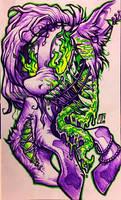 Spoopy Pony YCH #1 by Ferwildir