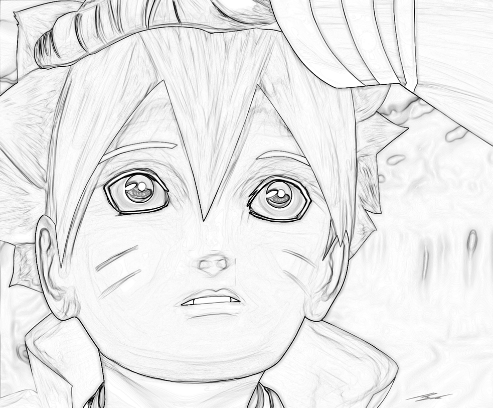 Sketch Boruto By SoAdventure On DeviantArt