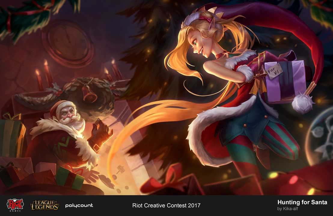 Hunting for Santa - Creative Riot Contest 2017 by Kika-alf