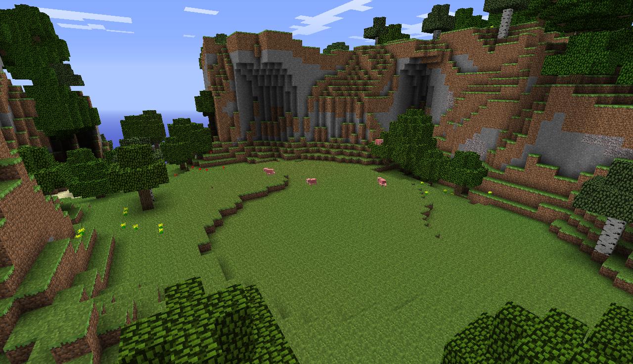 Minecraft landscape by revolutionalfa on deviantart for Garden designs minecraft