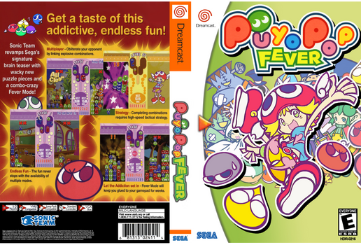 Puyo Pop Fever Dreamcast DVD Slip/Cover