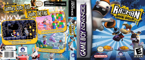 Rayman Raving Rabbids GBA Cover by JuCstin