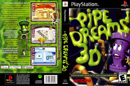 Pipe Dreams 3D / Pipe Mania 3D Ps1 DVD Cover