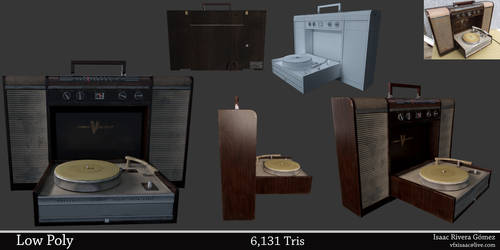Crown Phonograph Radio 1963 Low Poly