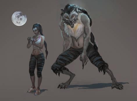 Werewolf female by oakenvial