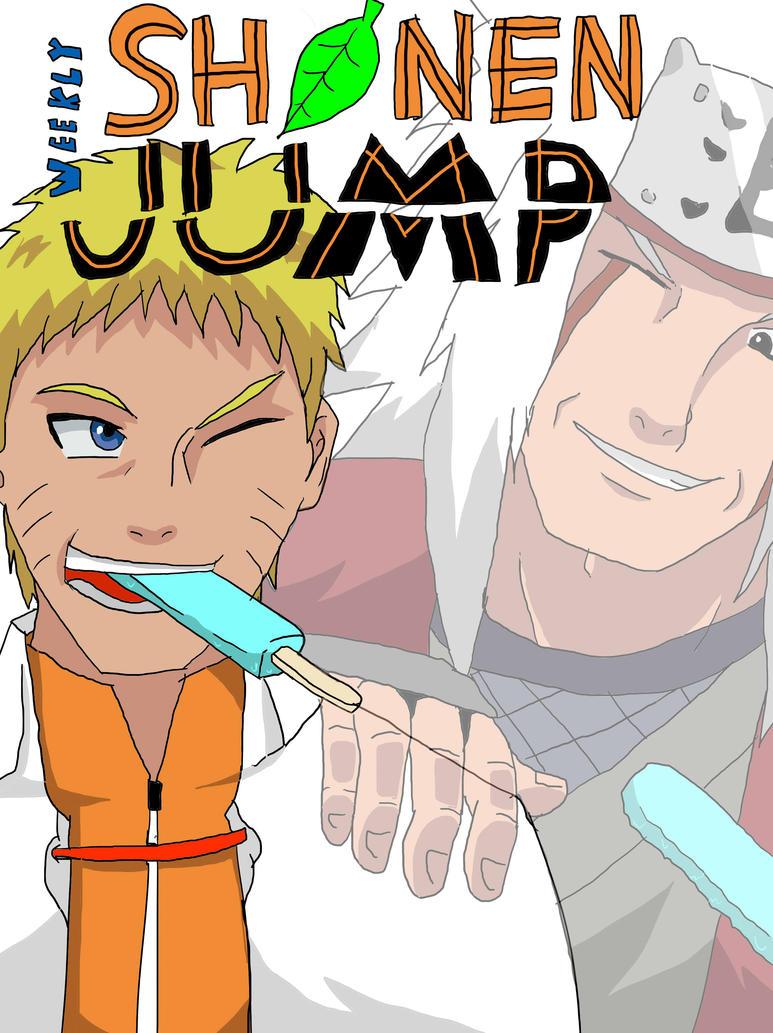SHONEN JUMP: Naruto Fanart Cover by SapphireRasengan