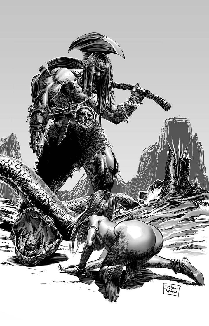 Conan, The barbarian by DiegoYapur