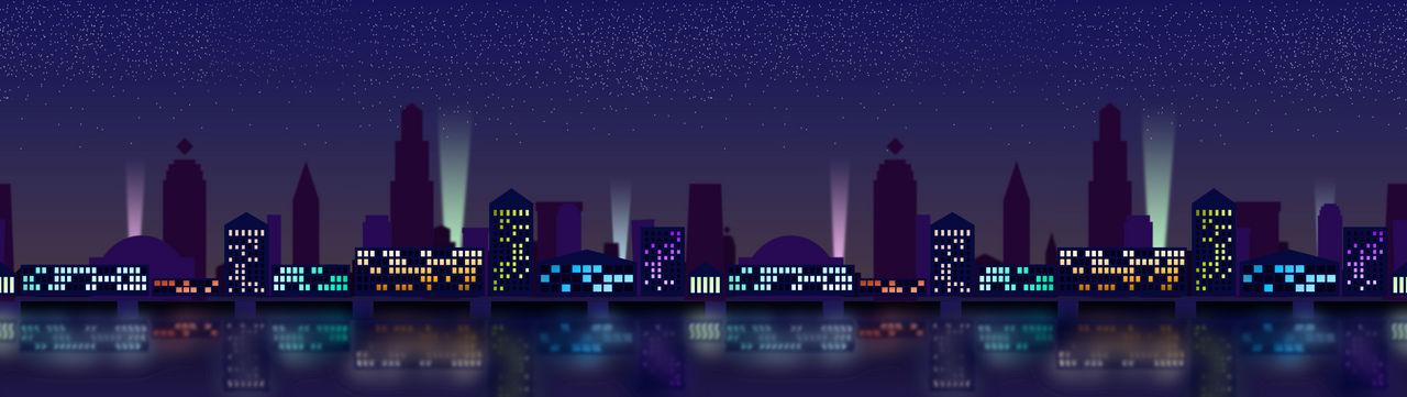 Neon City Paralax Background Practice