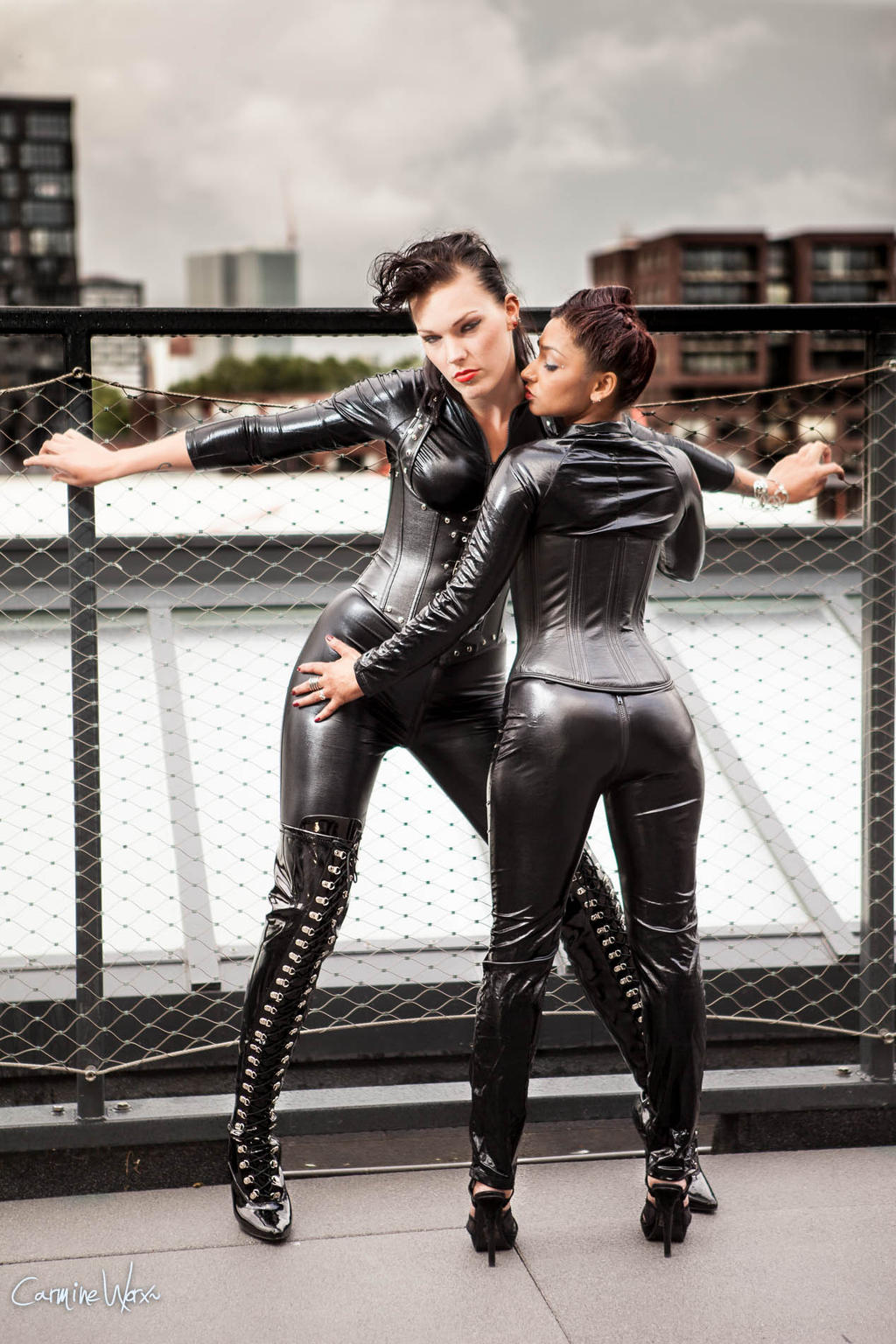 Latex and leather