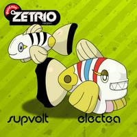 Supvolt and Electea by Harmony-PokeArt