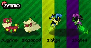 Swarline, Zigzapod, Zigtlee, Zagtlee by Harmony-PokeArt