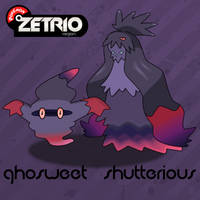 Ghosweet and Shutterious by Harmony-PokeArt