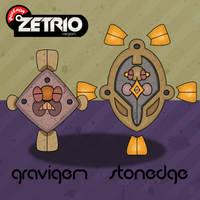 Gravigem And Stonedge by Harmony-PokeArt