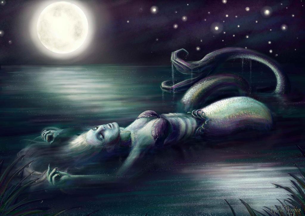 Moonbathing 02 (Bikini-Version) by AurielPhoenix