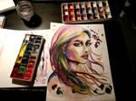 2018-07-11 Aquarell Girl - Watercolor Traditional