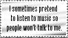 PretendingToListenToMusic. by TehSweetheart