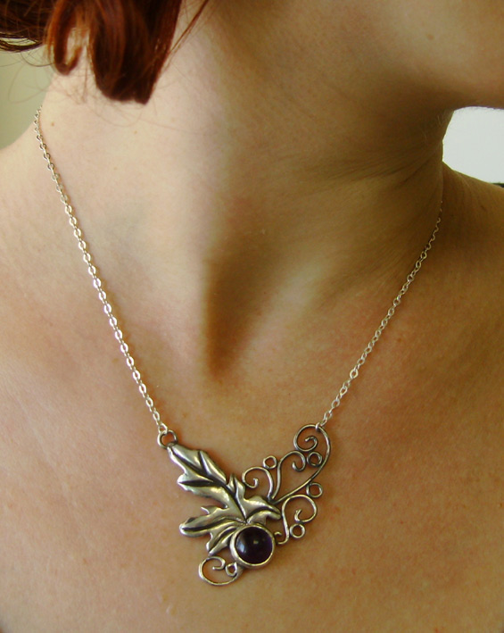 Leaf and Vines Necklace by GeshaR