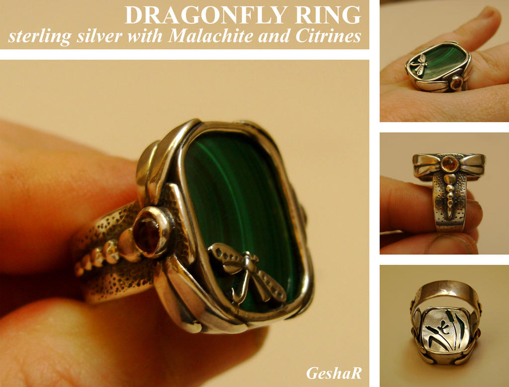 Dragonfly Ring by GeshaR