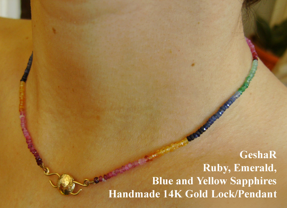 Precious Rainbow Necklace by GeshaR