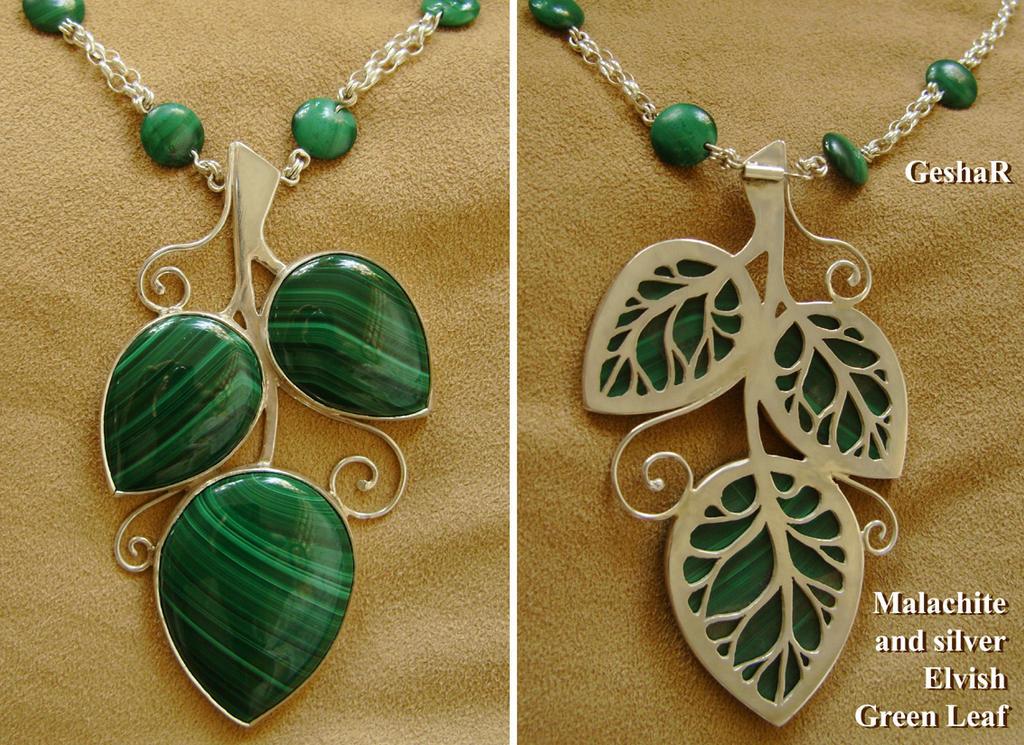 Green Elvish Leaf by GeshaR