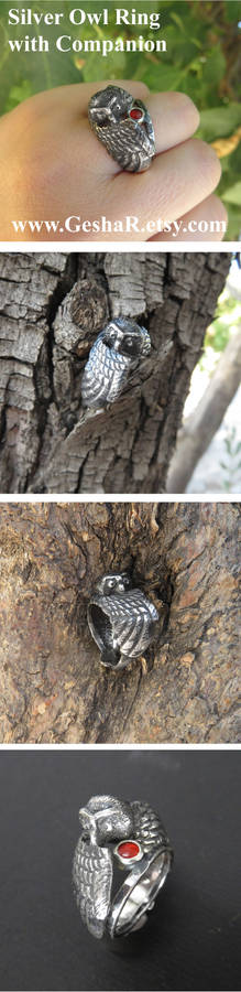 Owl Ring with a Companion