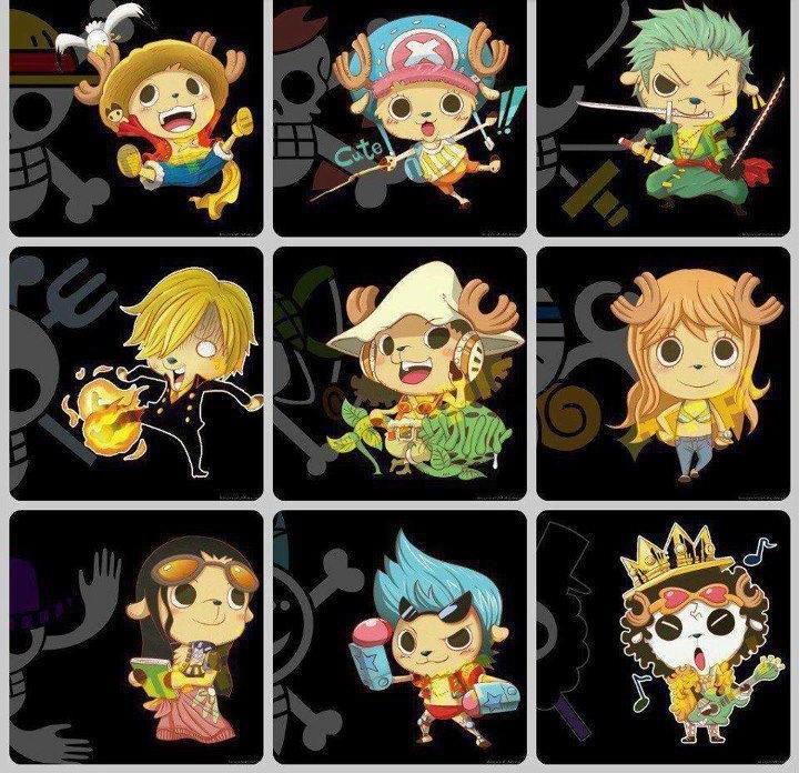 One Piece Strew Hat Crew Chopper Chibi By Naruke24