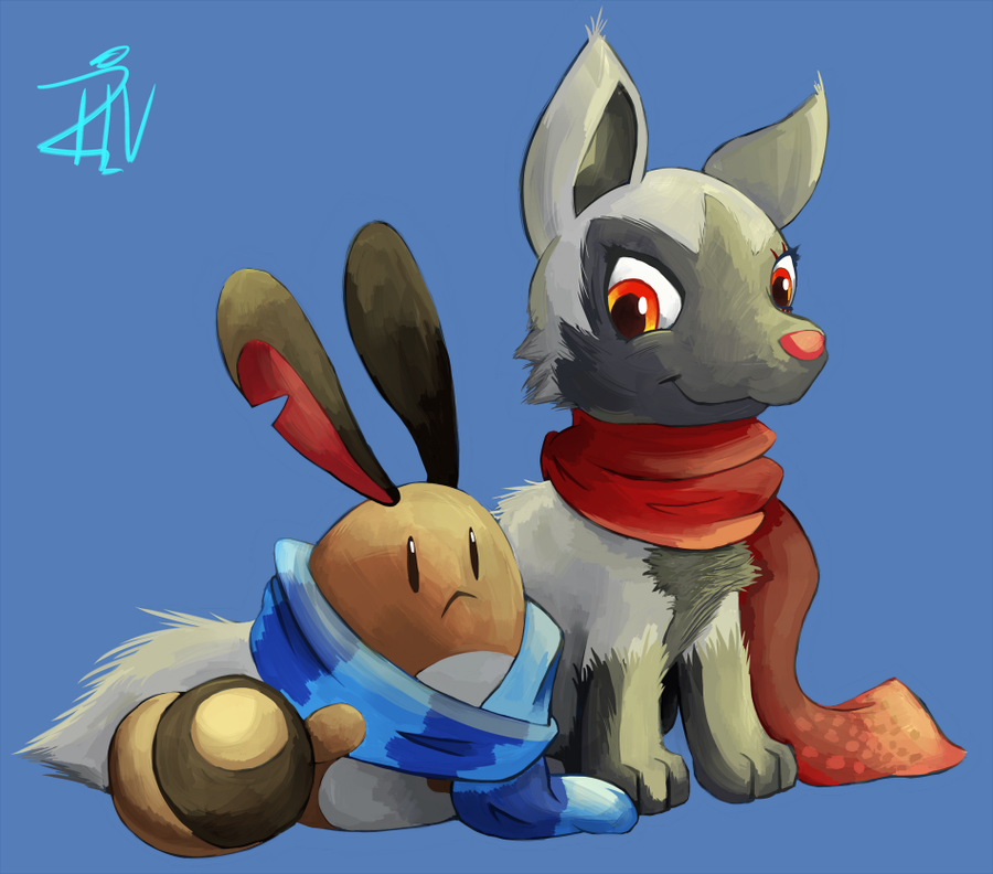 Skipp and Lolo :Gift: by AdmiralRivers