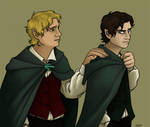 Frodo and Sam by Cordania