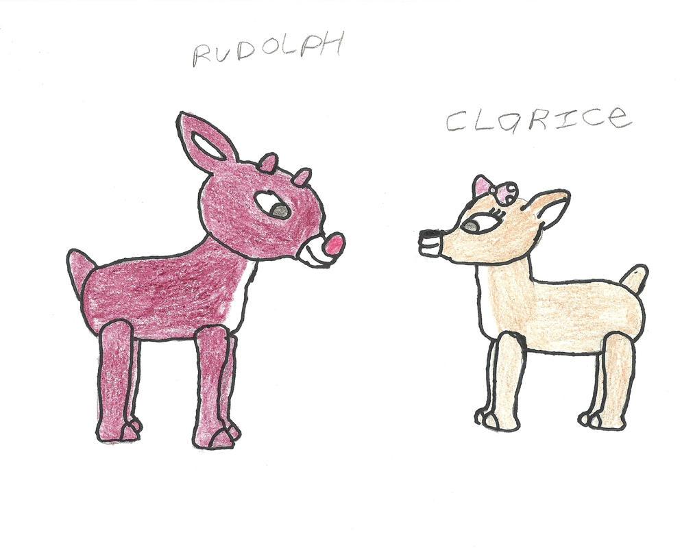 rudolph the rednose reindeer by darkc3po