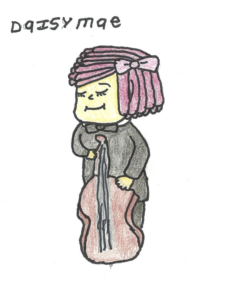 daisy mae playing the violin, by darkc3po