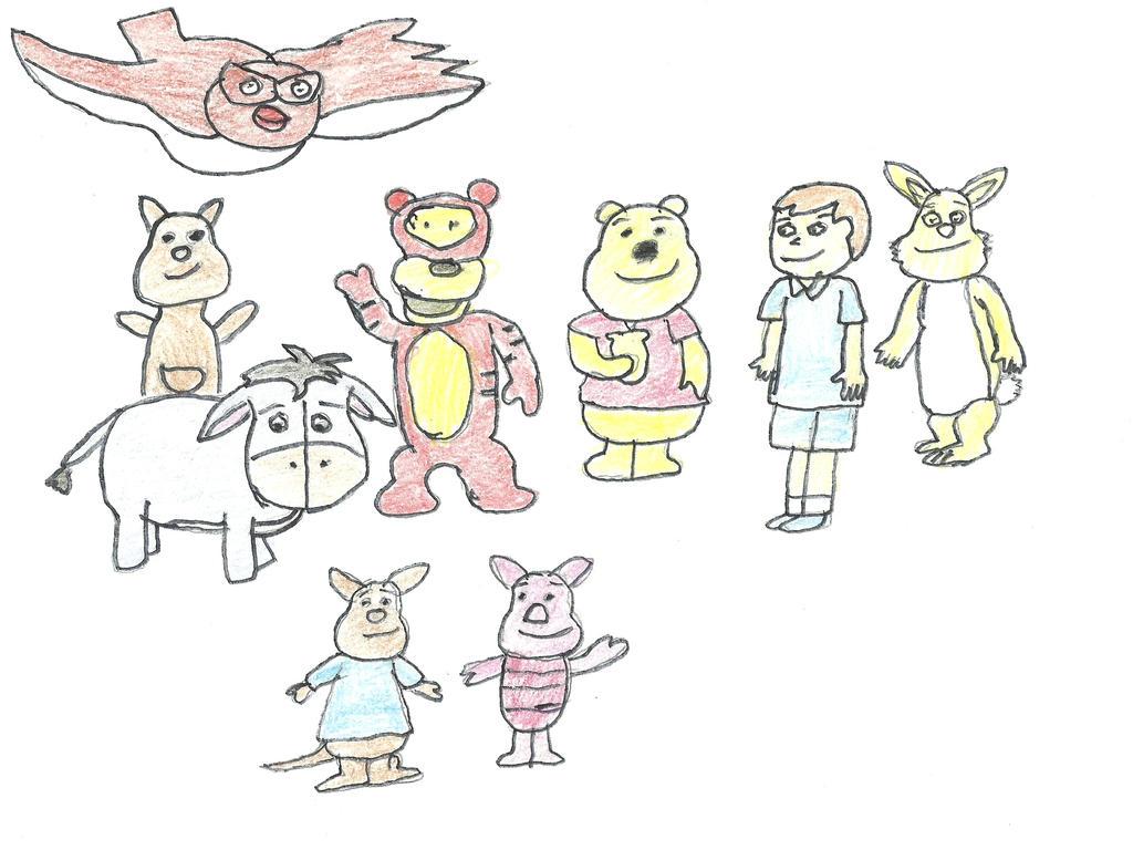 winnie pooh and friends by darkc3po