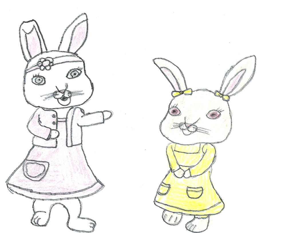 lily and cotton tail by darkc3po