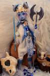 Monster High Abbey Warrior Queen custom doll.