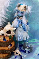 Monster High Abbey Warrior Queen custom doll. by cimmerianwillow