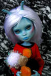 Tallah the Andorian, Star Trek custom doll. by cimmerianwillow