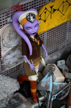 Star Wars Twi'lek custom Monster High doll