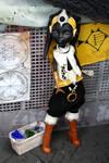 Twi'lek merchant, custom Star Wars doll.