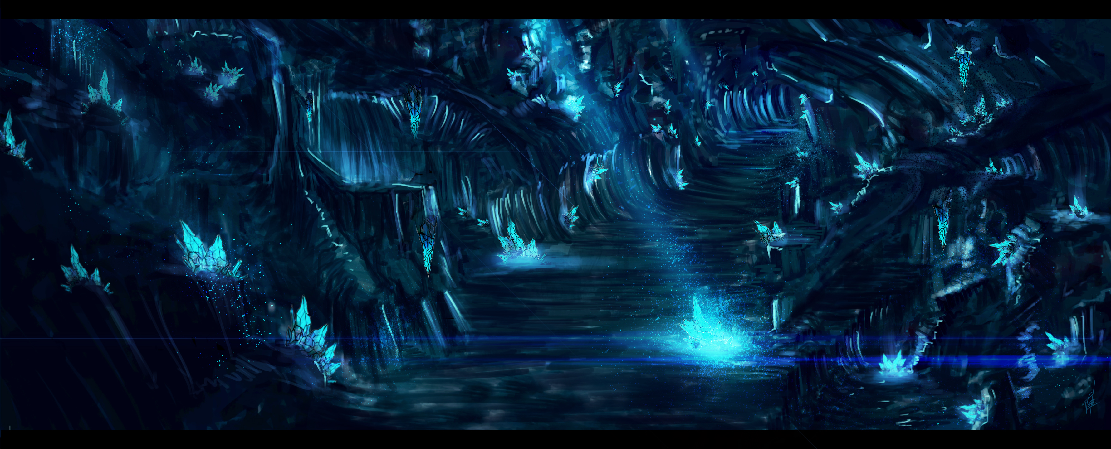 Crystal cave by joshualim91 on deviantart for Paintings of crystals