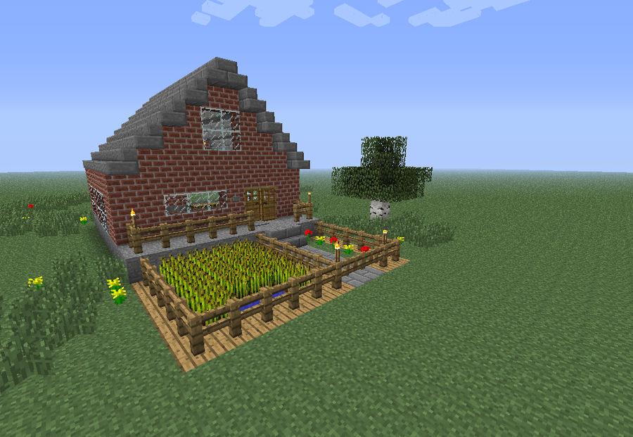 Minecraft Brick House By Arky95 On Deviantart