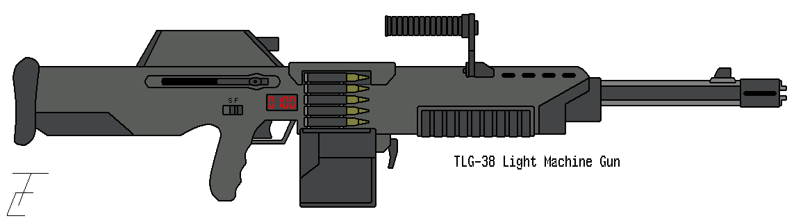 Machine gun by omegafactor90