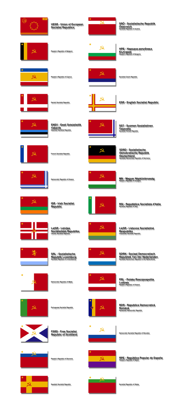 Flags of the UESR by Kristo1594