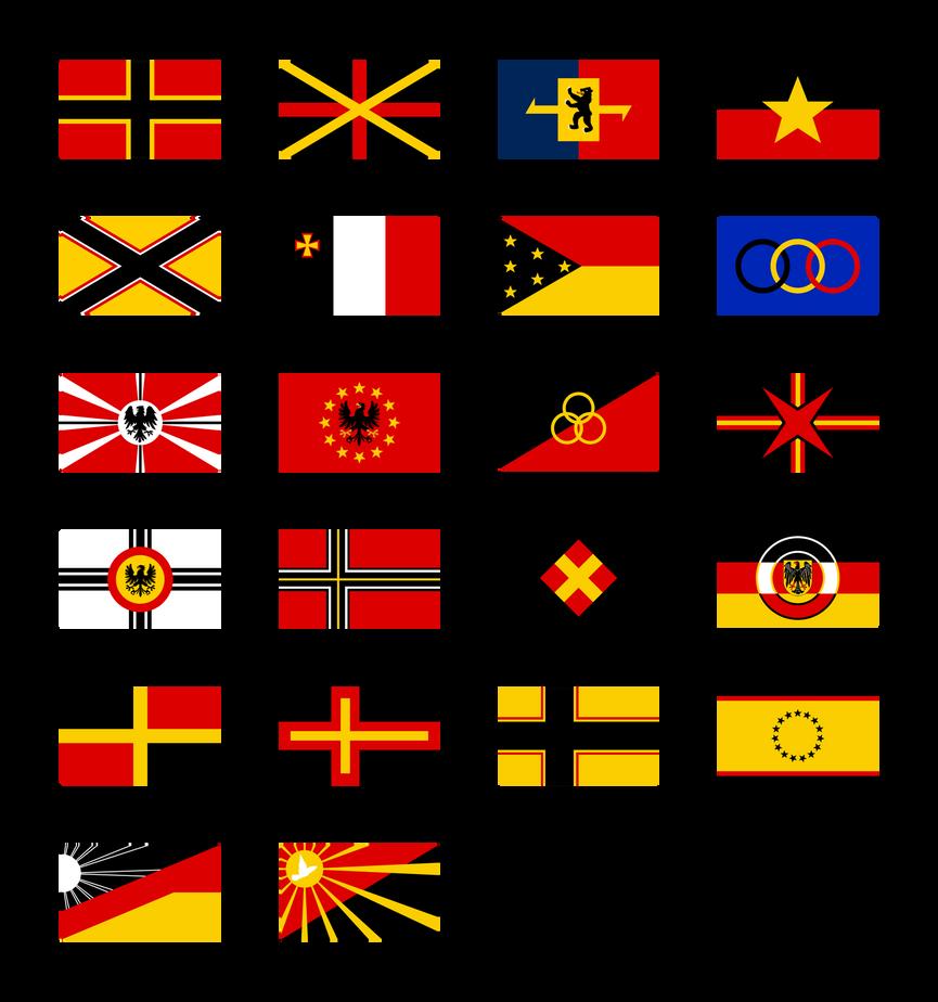 German Flag Proposals 1948 by Kristo1594