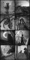 Night in the Lonesome Inktober 1 by ViaEstelar